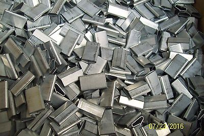 """*LOT OF 1000* 1/2""""  CLOSED PUSHER SEAL for STEEL STRAPPING BANDING 8SG0500P"""