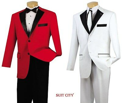 Men's Formal Tuxedo Prom Wedding Groom Suit Classic Fit Two Button 2-Tone T-2FF