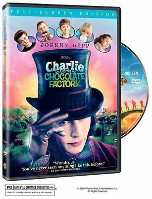 Charlie and the Chocolate Factory.  Full Frame. DVD (2005) Johnny Depp.