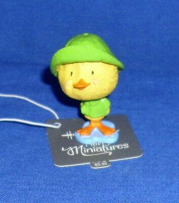 "Hallmark Easter Merry Miniatures Figurine Duck in Raincoat 2016 1-1/2"" High"
