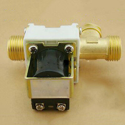 "DC 12V 1/2"" Brass Electric Solenoid Valve For Water Air N/C Normally Closed Hot"