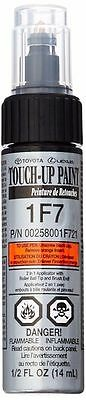 Genuine Toyota Touch Up Paint With Brush 1F7 Classic Silver Metallic Oem New