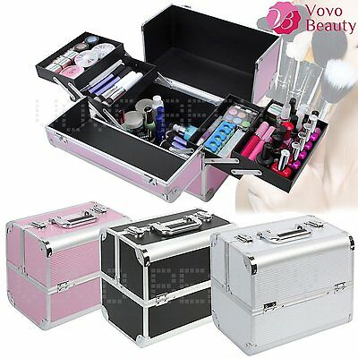 Make Up Case Vanity Cosmetic Beauty Box Jewellery Nail Tech Storage Travel Lady