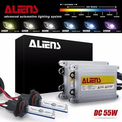 55W HID Xenon Headlight Replacement Kit H1/H7/H11/9005/9006/9007/9008/5202/880/1
