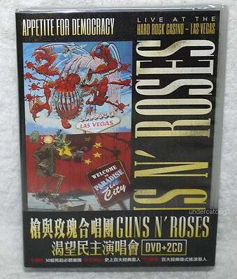 Guns N' Roses Appetite For Democracy Live At The Hard Rock Casino Taiwan DVD+2CD
