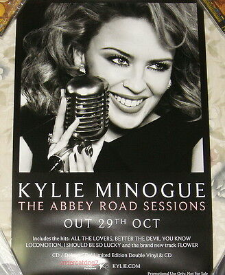 """Kylie Minogue The Abbey Road Sessions 2012 Taiwan Promo Poster (24""""X16"""")"""