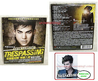 Adam Lambert Trespassing Deluxe Version Taiwan Ltd CD+poster w/OBI (15 trks)