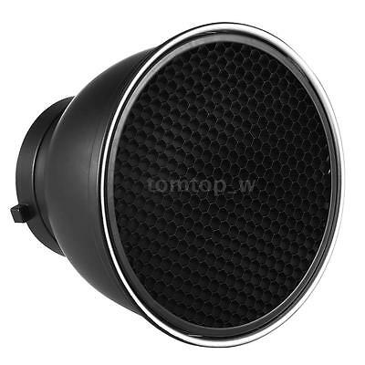 "7""Standard Lamp Shade Reflector Diffuser W/ Honeycomb Grid for Bowens Mount Q5K1"