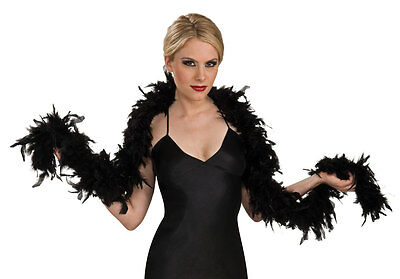 Luxury Black Feather Boa Hen Night Party Fancy Dress - 1.8M Long