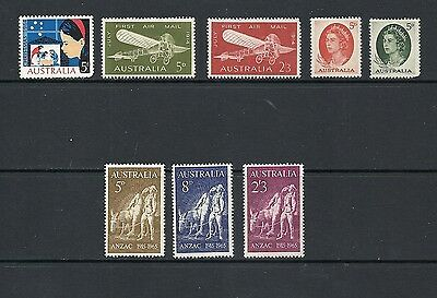 1964 Queen Elizabeth II SG370 to SG375 All Issues MNH Collection AUSTRALIA
