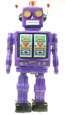 ELECTRON ROBOT D CELL CLASSIC 50's /60' PURPLE  COLOUR CHOICE TIN TOY  Tinplate