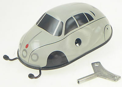 Vw Beetle Bug  Clockwork European Made Tinplate Toy Edge Detector Ce Approved
