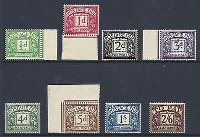 Sg D27 - D34 1937-38 Full set of Postage Dues UNMOUNTED MINT/MNH