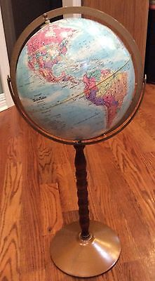 "Replogle World Series Floor Globe 31"" Tall"
