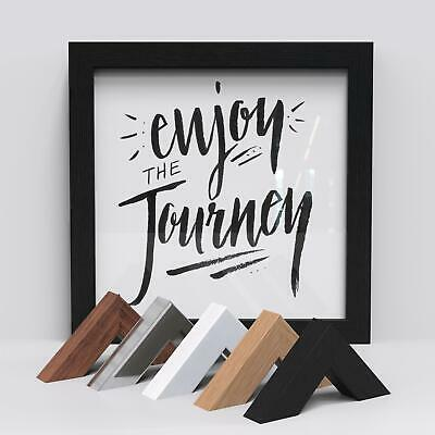 Box Frames Wood Finish Picture Photo Poster Frame Multi Sizes Black Oak White