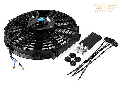 "250mm 9"" Electric Radiator Intercooler Fan Push/Pull Slim Design 9 Inch BN"