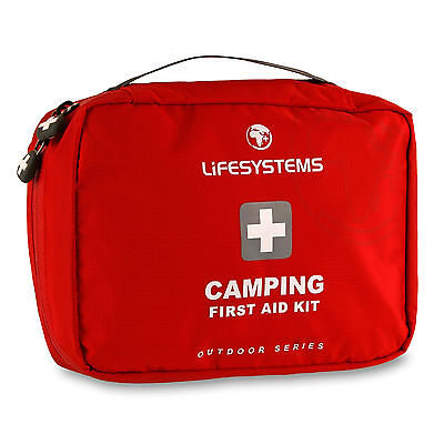 Lifesystems Camping First Aid Kit Emergency Outdoor Care Plasters Bandages Burn