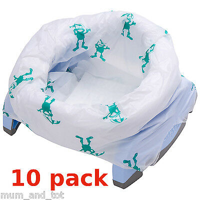 Potette Travel Potty Disposable Liners 10 Pack Biodegradable