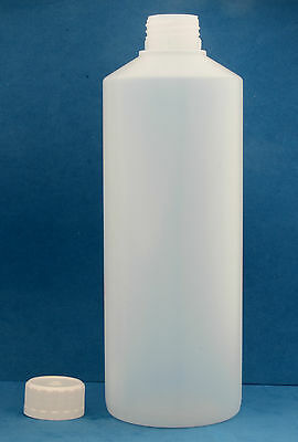 5L White Plastic HDPE Jerry Can Bottle Wadded Cap Tamper Tell Evident