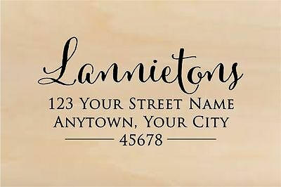 Self Inking Personalized Return Address Stamp Custom Rubber Stamp R267