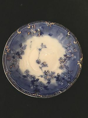 "Flow Blue Lugano 6"" Saucer In Mint Condition"