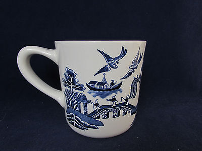 SET OF SIX - Johnson Bros WILLOW BLUE Mugs