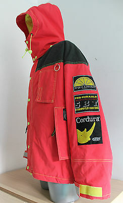 Mens ACQUA LIMONE Vintage Jacket CORDURA Quilted Waterproof INSULATED Red Size S
