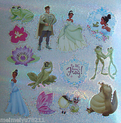 2x Sheets Sandylion Glitter Stickers Disney Frog Princess Prince BUY2GET1FREE