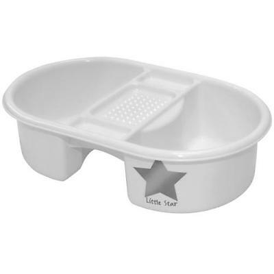 Strata Baby Bath Bowl Washing Top N Tail Deluxe Silver Lining Cleaning