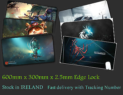 Large Gaming Mouse pad Mouse Mat LOL Dota 2. Edge Locked 600mm x 300mm