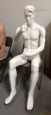 male mannequin sitting pose brand new with interchangeable arms