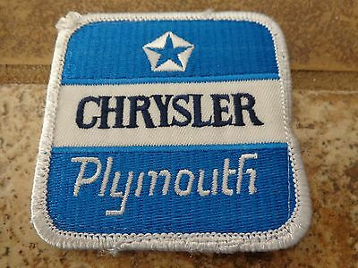 Chrysler Plymouth Auto  Embroidery Patch Advertising, Collectors Nice!