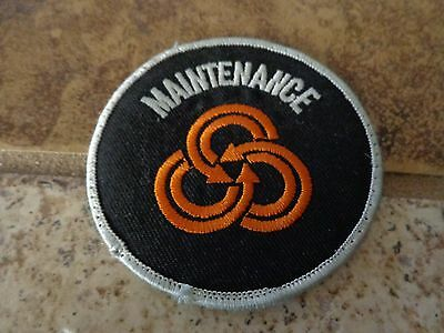 Tri Met Maintenance Portland Or Embroidery Patch Advertising, Collectors Nice!