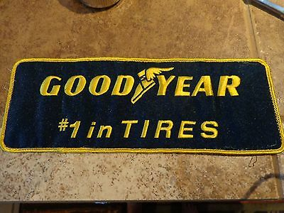Good Year #1 in Tires Large Embroidery Patch Advertising, Collectors Nice!
