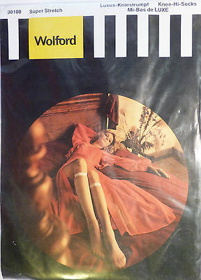 Wolford Medium Size Vintage Super Stretch Knee Highs in two shades