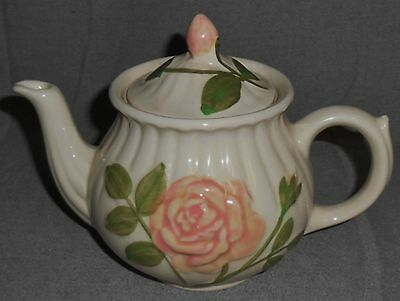 Shawnee EMBOSSED PINK ROSE DESIGN Four Cup TEAPOT w/LID #2