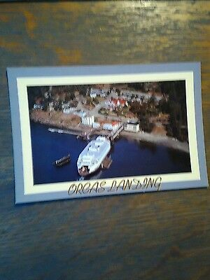 Washington State Ferries Photo Post Card Air Shot Orcas Landing Puget Sound Ferr