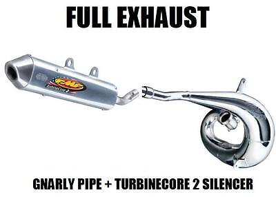 Full Fmf Gnarly Pipe Exhaust & Turbinecore 2 Silencer 11-16 Ktm 250 300 Exc Xc W