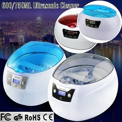 Multi Purpose Ultrasonic Sonic Wave Cleaner Jewelry Glasses Watch 600ML/750ML AU
