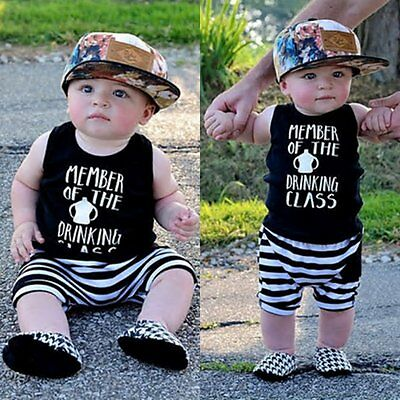 2pcs Toddler Kids Baby Boys T-shirt Tops+Beach Pants Summer Outfits Clothes Sets