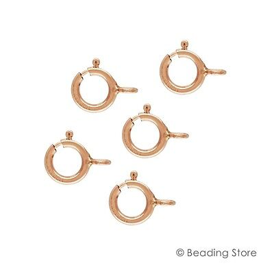 Various Sizes 14ct Rose Gold Filled Spring Bolt Trigger Clasps Open/Closed Rings