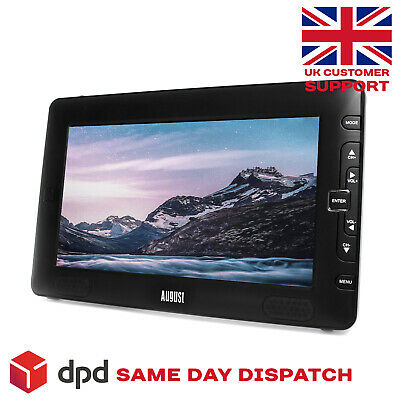 "9"" Portable Freeview TV - August DTV905 with Multimedia Player and USB Recorder"