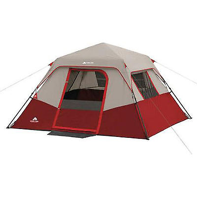 Cabin Instant Camping Tent Shelter 6 Person Outdoor Family Hiking Travel New Red