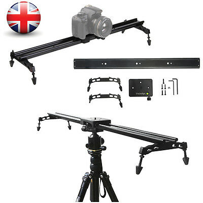 80cm Photo Studio DSLR Camera Track Dolly Slider Video Stabilization Rail System