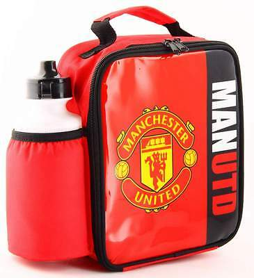 Manchester United FC Vertical Lunch Bag/Box and 600ml Bottle Set | MUFC Lunchbox