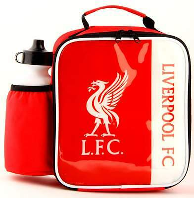 Liverpool FC Vertical Lunch Bag/Box and 600ml Bottle Set | Football Lunchbox
