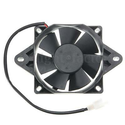 12V Electric Engine Cooling Fan Radiator Motorcycle ATV Go Kart Quad 150-250cc