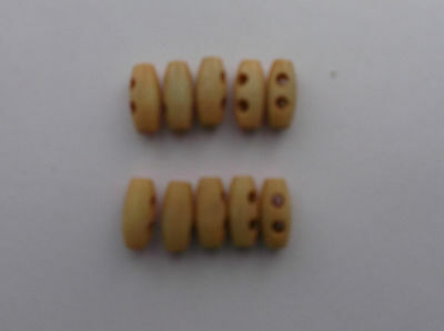 Wooden Toggle ( 2 Hole 1.5 cm Light Brushed )  Buttons x 10
