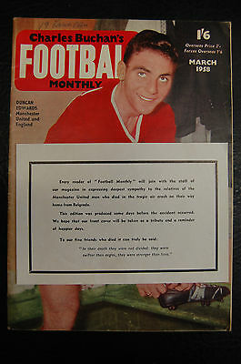 Duncan Edwards Manchester United Munich 1958 Football Monthly + Insert