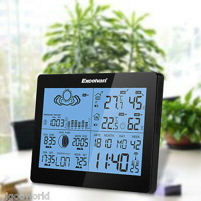 Color LCD Wireless Weather Station Barometer Thermometer Wind Speed Humidity UK